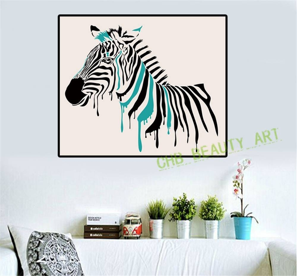 Wall Art Canvas Painting Abstract Zebra Print On Canvas Wall With Regard To Most Popular Zebra Wall Art Canvas (View 8 of 25)