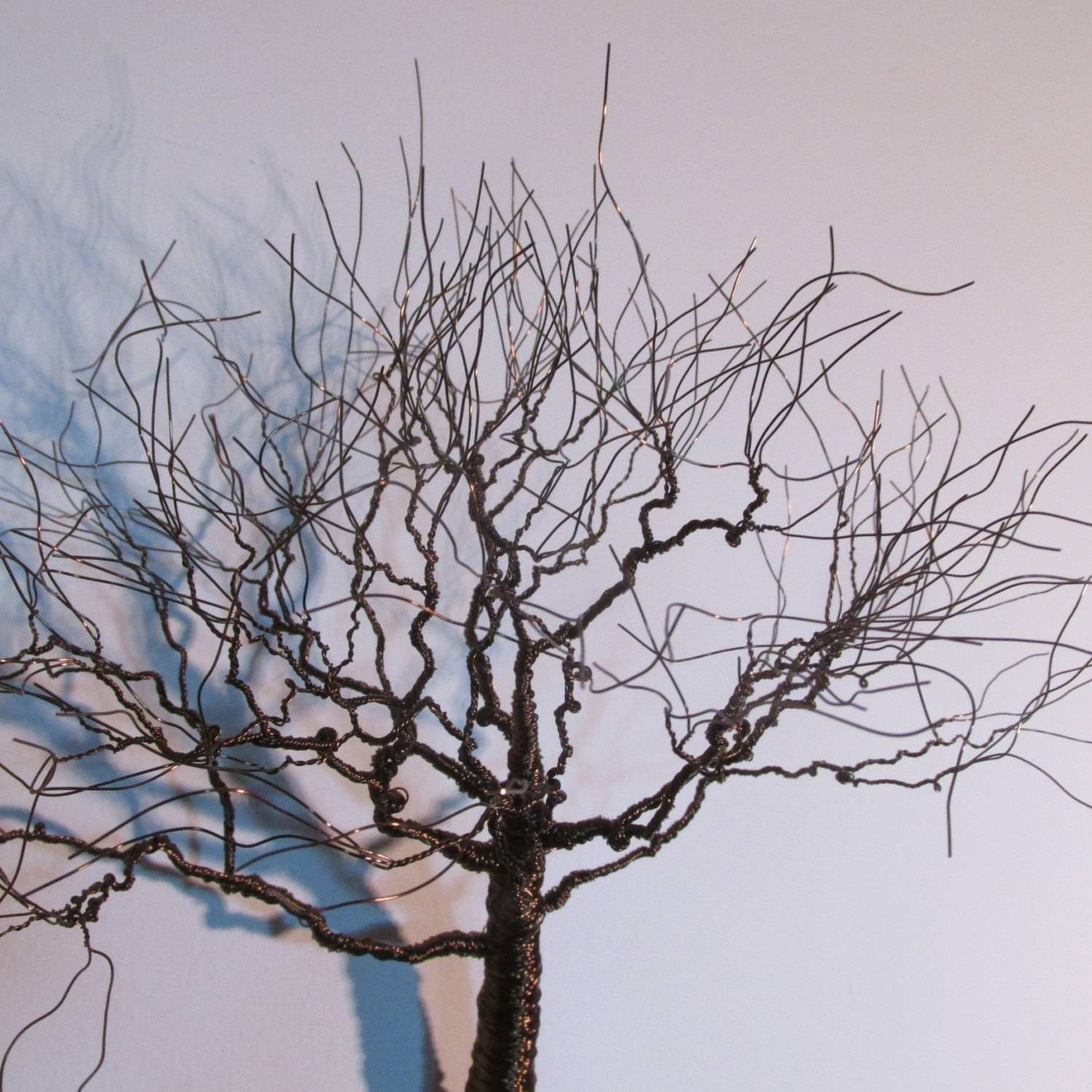 Wall Art Decor Ideas: Bronze Decorations Metal Wall Art Tree Brown For Best And Newest Metal Wall Art Trees And Branches (View 13 of 18)