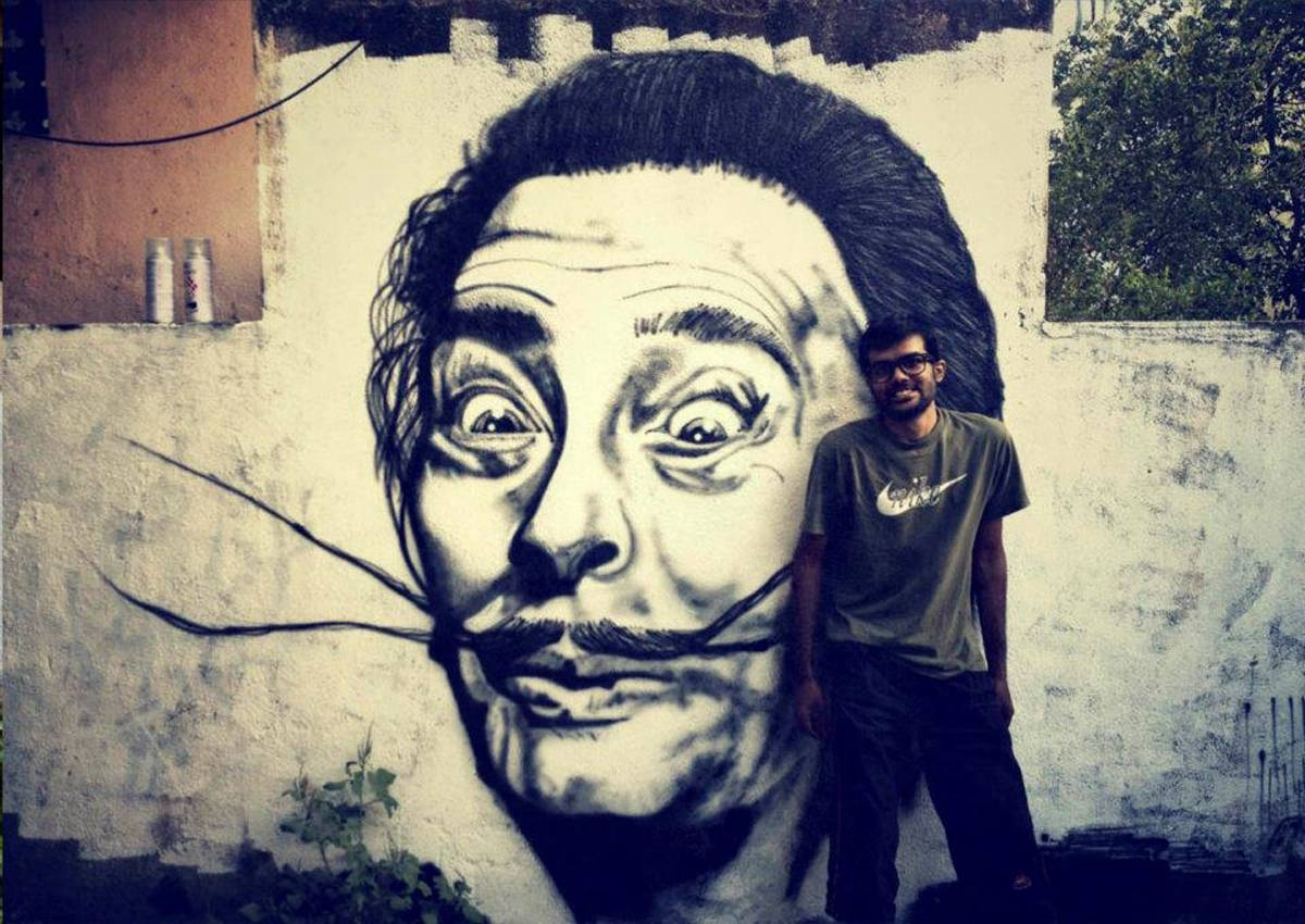 Wall Art Decor Ideas: Mural Streetart Salvador Dali Wall Art Pertaining To Recent Salvador Dali Wall Art (View 8 of 20)