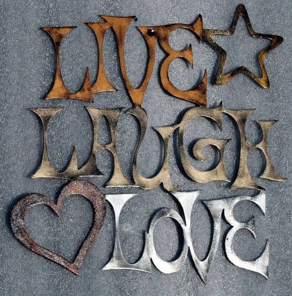 Wall Art Decor Ideas Pinterest Live Love Laugh Metal Wall Art Live  Pertaining To 2018 Live