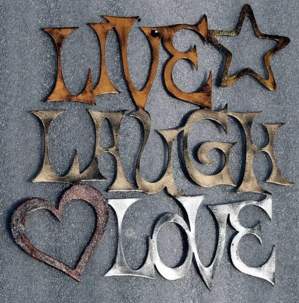 Wall Art Decor Ideas Pinterest Live Love Laugh Metal Wall Art Live Pertaining To 2018 Live Love Laugh Metal Wall Decor (View 11 of 25)