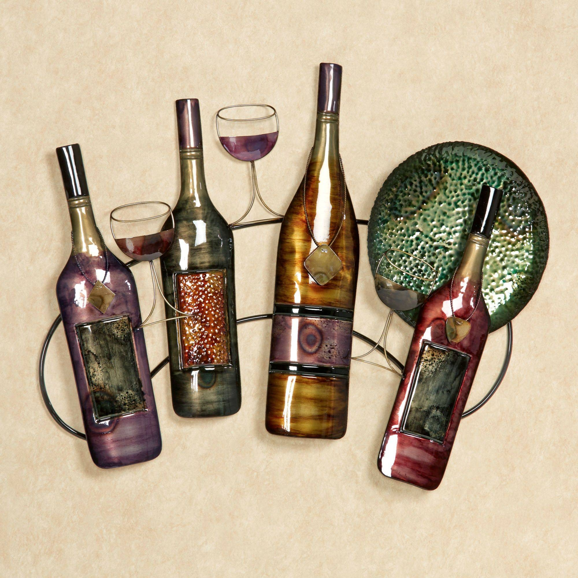 Wall Art Decor: Purchased Recent Wine Wall Art Metal Practice For Most  Popular Wine Metal