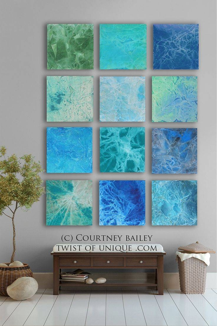 Wall Art Design: Abstract Wall Art Unique Design Collection Art In Current Blue And Green Wall Art (View 8 of 20)