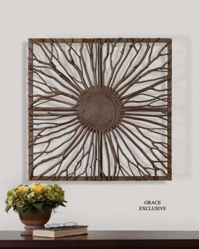 Wall Art Design: Branches Wall Art Natural Branch Wall Art Western With 2017 Large Round Wall Art (View 5 of 15)