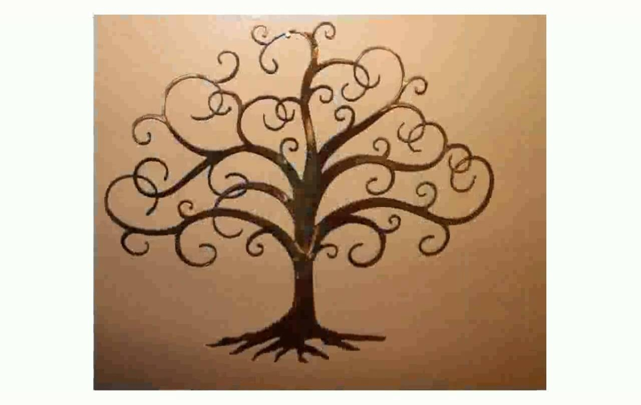 Wall Art Design Ideas: Black Tree Of Life Metal Wall Art Simple For 2017 Cream Metal Wall Art (View 10 of 20)