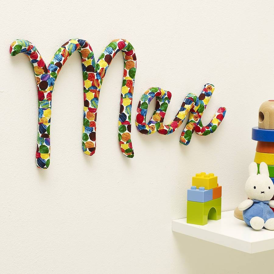Wall Art Design Ideas: Colorful Design Name Wall Art For Nursery Inside Most Popular Personalized Baby Wall Art (View 10 of 20)