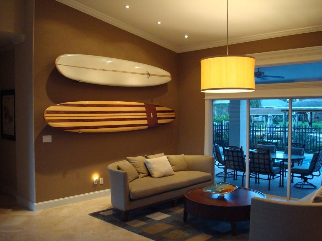 Wall Art Design Ideas: Cool Catching Surfboard Wall Art Home Intended For Recent Decorative Surfboard Wall Art (View 8 of 25)