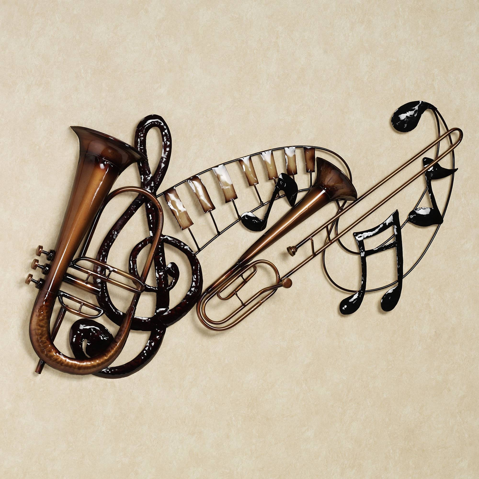 Wall Art Design Ideas: Interlude Unique Metal Wall Art Music In Most Current Music Theme Wall Art (View 20 of 30)