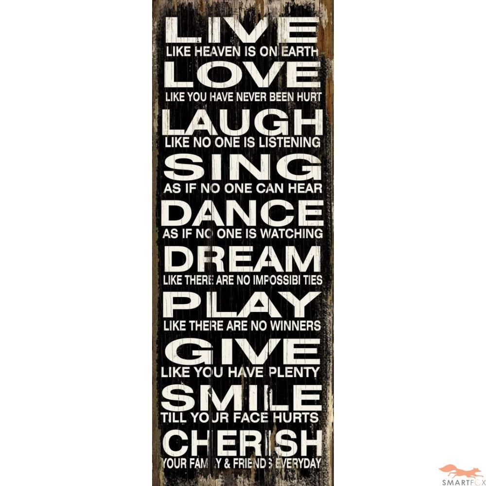 Wall Art Design Ideas: Live Love Word Plaques Wall Art Laugh Sing Inside Recent Wooden Words Wall Art (View 3 of 30)