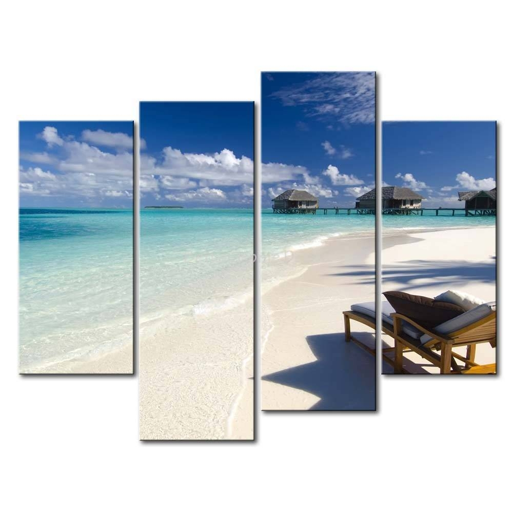 Wall Art Design Ideas: Maldives Clouds 3 Piece Beach Wall Art With Regard To Most Up To Date 3 Piece Beach Wall Art (View 1 of 30)