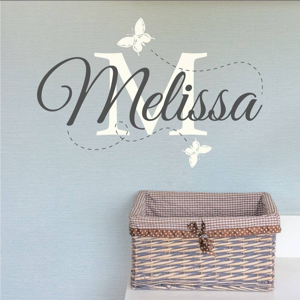 Wall Art Design Ideas: Melisa Childrens Name Wall Art For Nursery With 2017 Personalized Baby Wall Art (View 17 of 20)