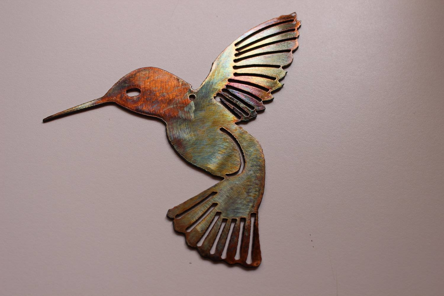 Wall Art Design Ideas: Metal Sculpture Hummingbird Wall Art Within Recent Stainless Steel Outdoor Wall Art (View 5 of 20)