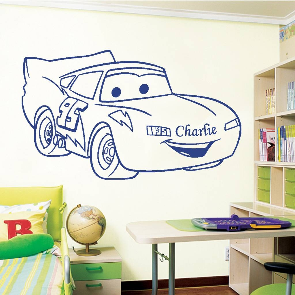 Wall Art Design Ideas: Obsured Varying Lightning Mcqueen Wall Art Regarding Most Up To Date Lightning Mcqueen Wall Art (View 1 of 20)