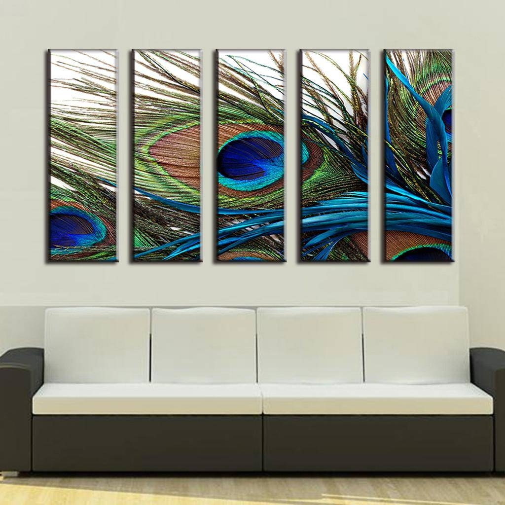 Wall Art Design Ideas: Peacock Modern Wall Art Cheap Sample Nice Intended For Most Up To Date Cheap Contemporary Wall Art (View 14 of 20)