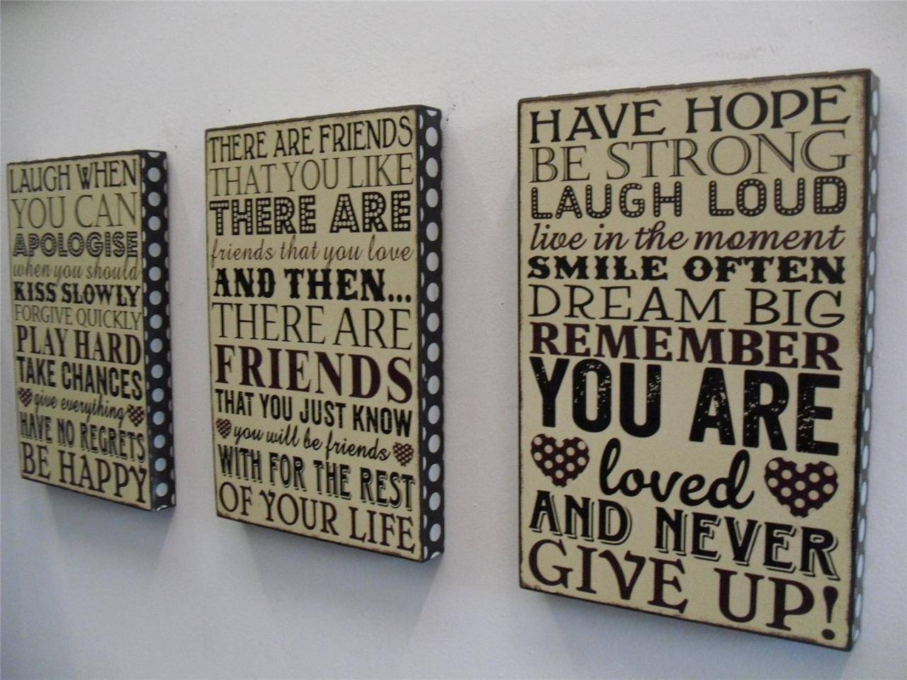 Wall Art Design Ideas: Personalized Word Plaques Wall Art Themes Within Latest Wooden Word Wall Art (View 8 of 30)