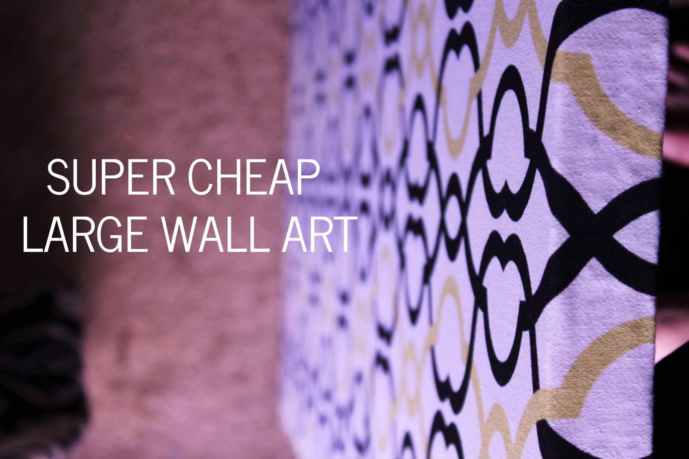 Wall Art Design Ideas: Purple Abstract Cheap Large Wall Art Super Regarding Most Recently Released Big Cheap Wall Art (View 17 of 20)