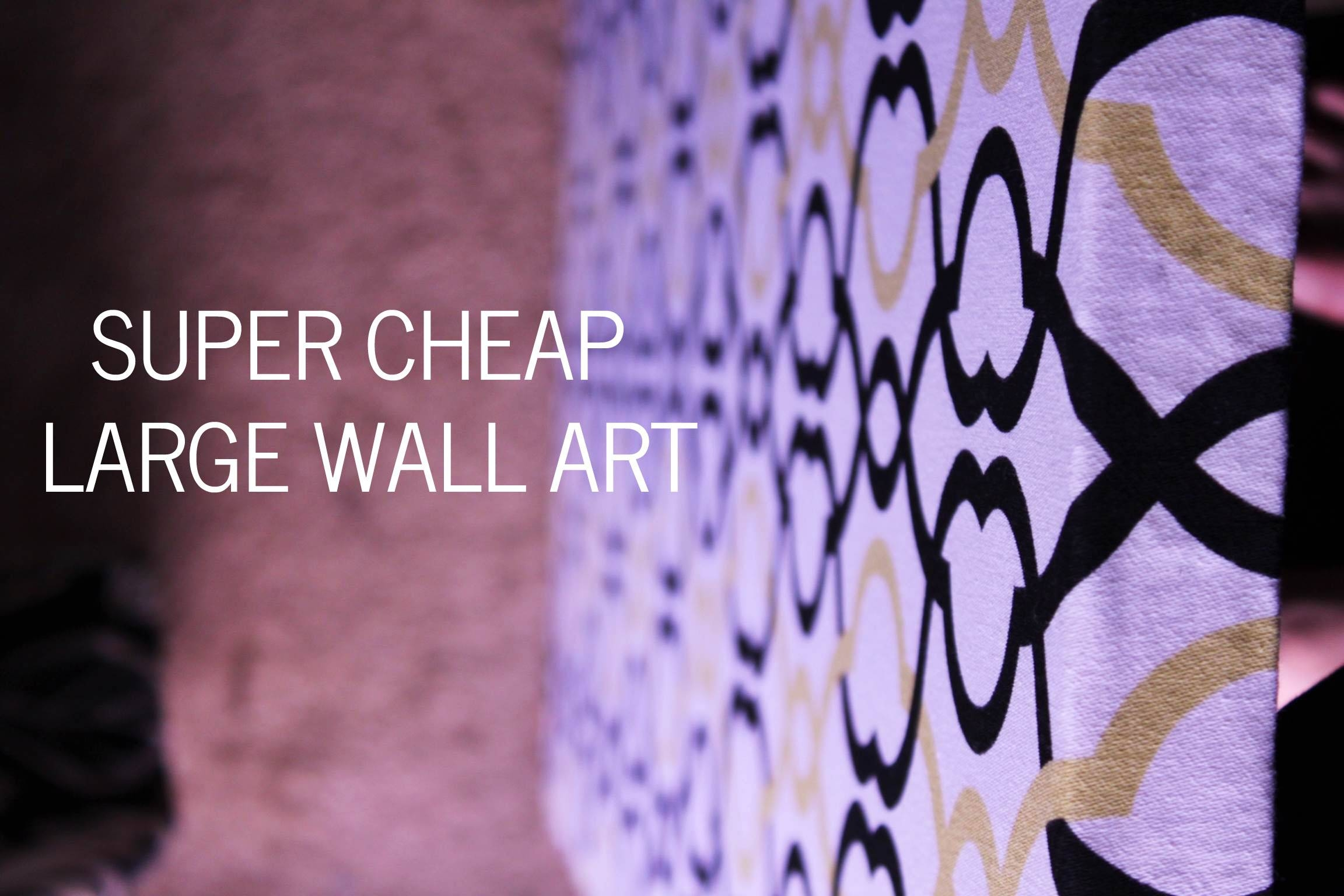 Wall Art Design Ideas: Purple Abstract Cheap Large Wall Art Super With Newest Large Cheap Wall Art (View 2 of 15)