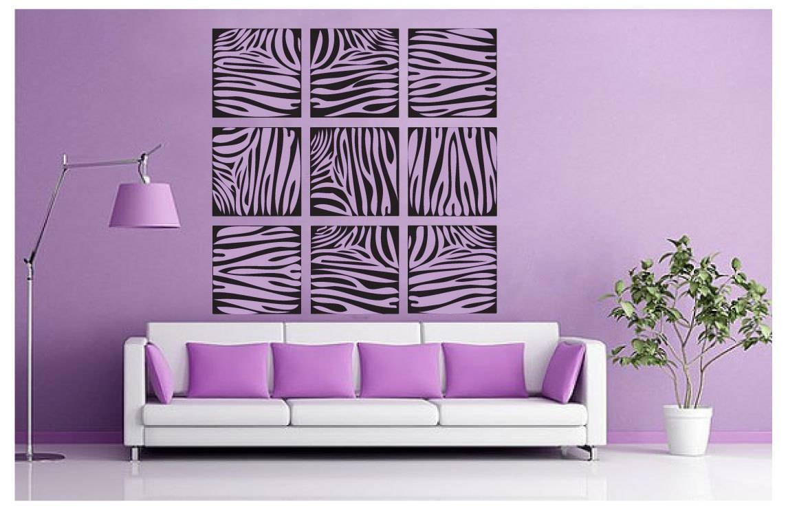 Wall Art Design Ideas: Purple Zebra Print Wall Art Sample Great Pertaining To Most Popular Zebra Wall Art Canvas (View 14 of 25)