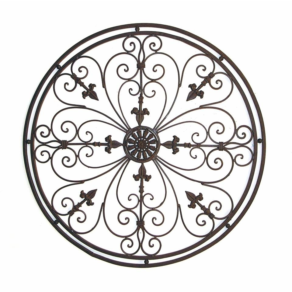 Wall Art Design Ideas: Tuscan Wrought Round Metal Wall Art Iron Throughout 2018 Wrought Iron Garden Wall Art (View 9 of 25)