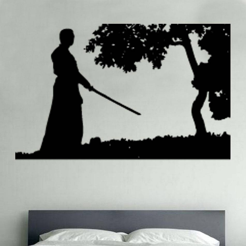 Wall Art Design Ideas: War Themed Printable Stickers Samurai Wall Inside Current Samurai Wall Art (View 19 of 20)
