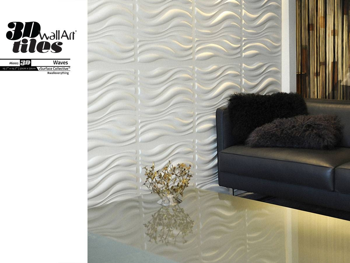 Wall Art Design Ideas: Waves Wall Art Tiles Sample Surface Classic For Most Recent Waves 3d Wall Art (View 3 of 20)