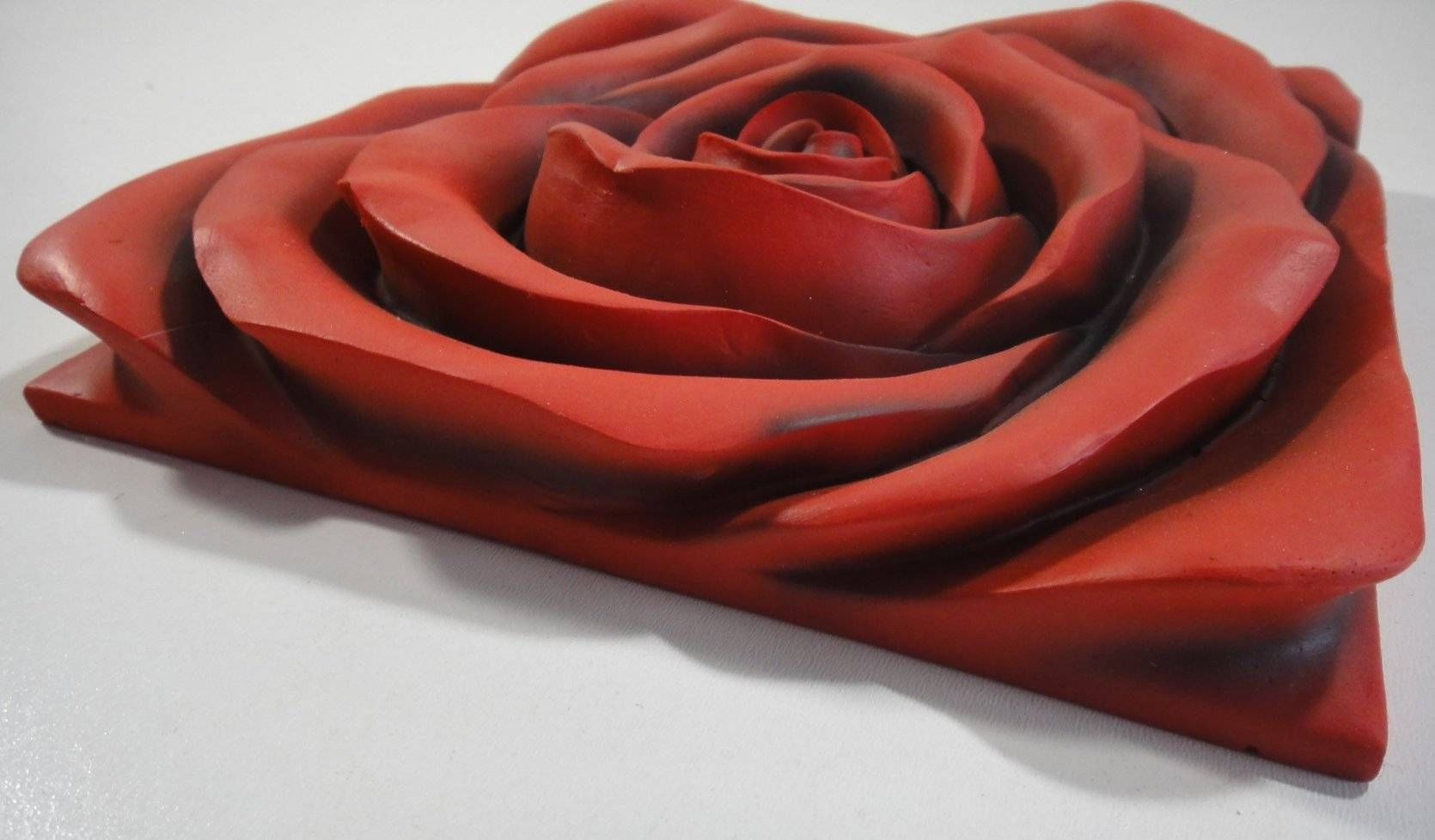 Wall Art Design: Resin Wall Art Beautiful Contemporary 3D Resin With Best And Newest Red Rose Wall Art (View 18 of 20)