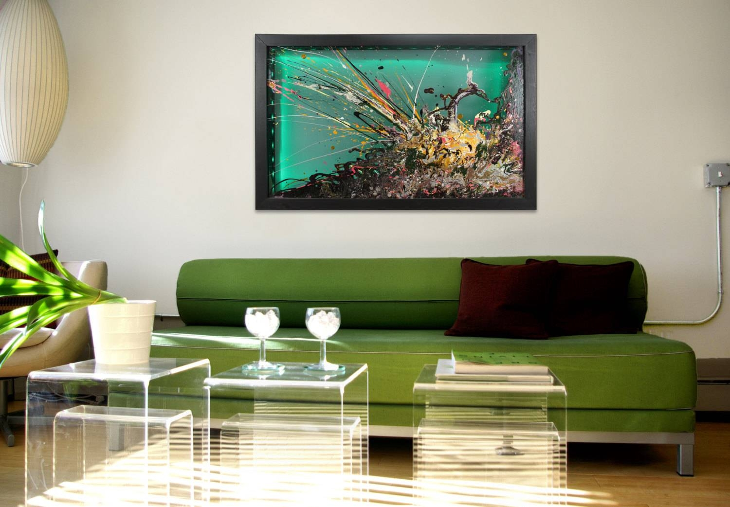 Wall Art Design: Unusual Wall Art Glass Wall Art Large Abstract Throughout  Current Large Unique