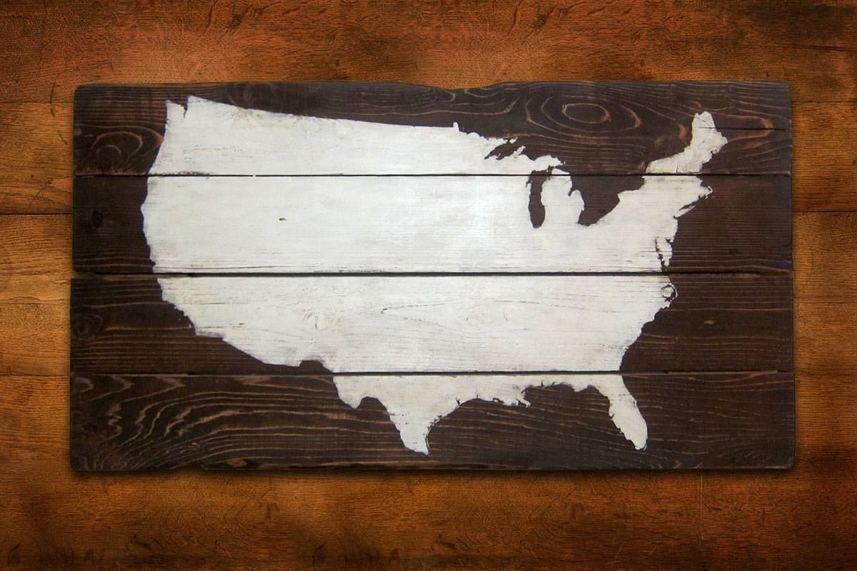 Wall Art Design: Usa Map Wall Art Awesome Design Collection Art Intended For Latest Us Map Wall Art (View 10 of 20)