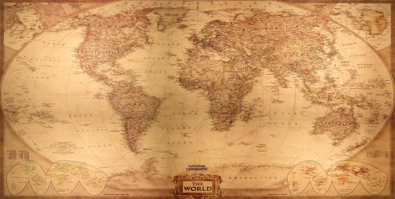 Wall Art Design: Vintage Map Wall Art Amazing Design Collection Throughout Most Recent Large Vintage Wall Art (View 13 of 20)