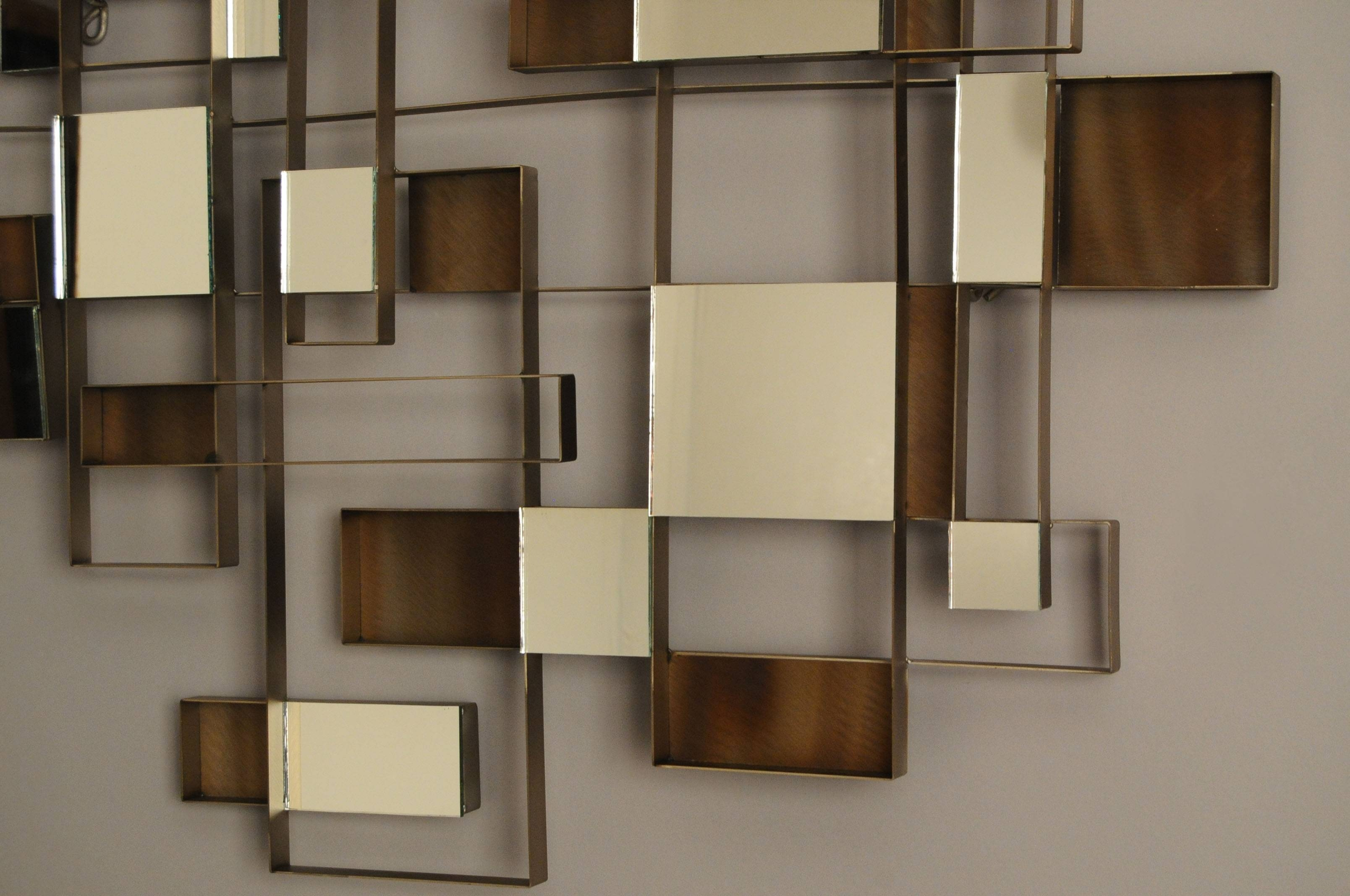 Wall Art Design: Wall Art Mirror Wooden Material Painted Lacquered With Most Up To Date Modern Mirrored Wall Art (View 5 of 20)