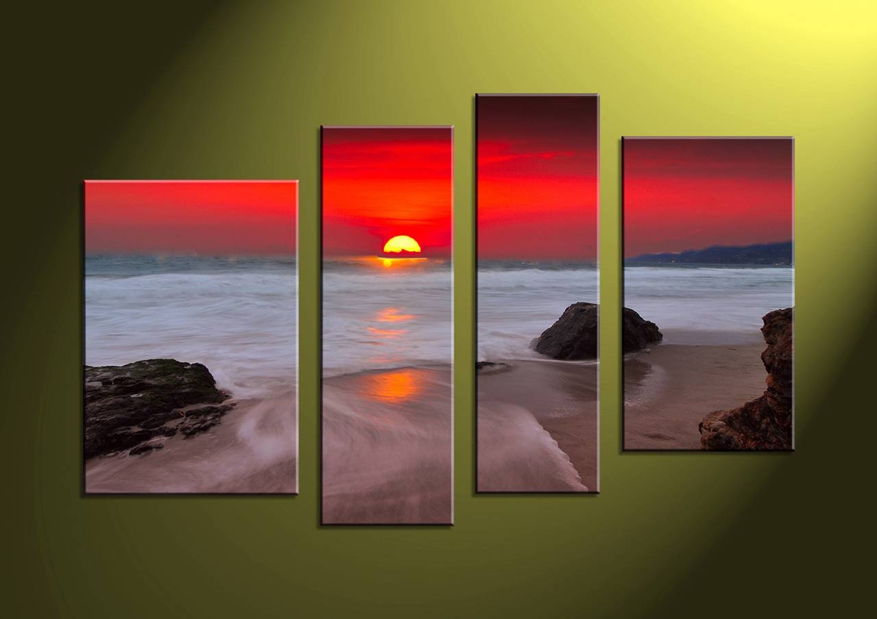 Wall Art Designs: 4 Piece Canvas Wall Art 4 Piece Canvas Home With Most Recently Released Multiple Piece Wall Art (View 14 of 20)