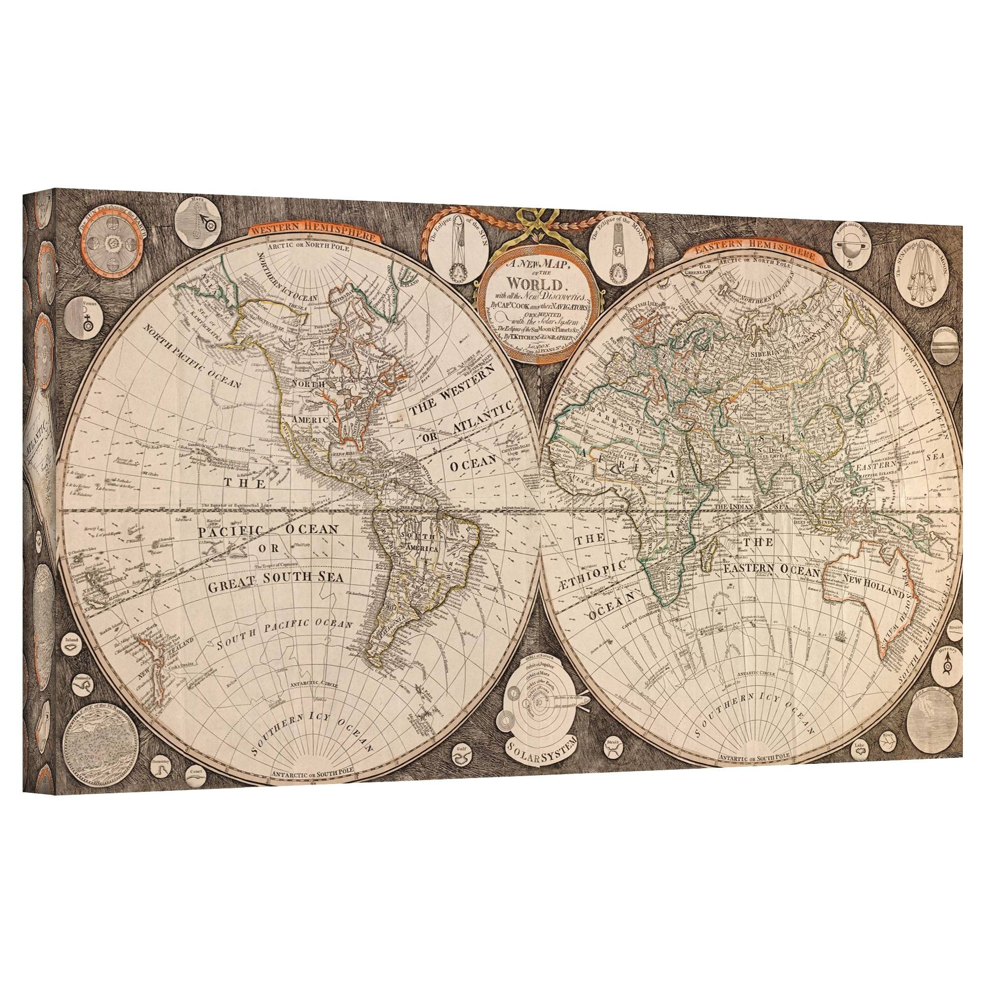 Wall Art Designs: Awesome Antique Map Wall Art Vintage Map Wall Pertaining To 2017 Antique Map Wall Art (View 5 of 20)