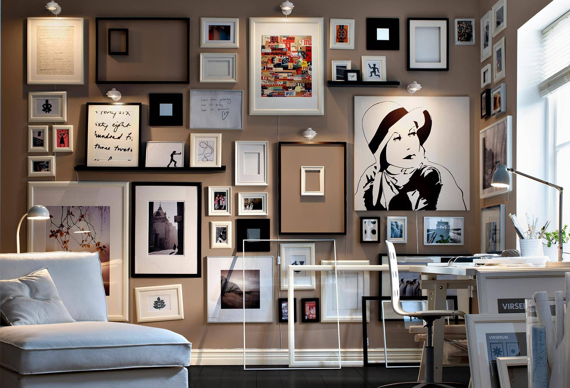Wall Art Designs: Awesome Designed Wall Of Art With Randomly Throughout Most Popular Photography Wall Art (View 7 of 25)