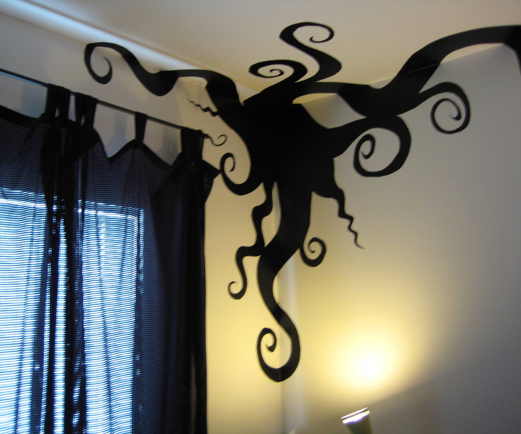 Wall Art Designs: Awesome Drawing Tim Burton Wall Art Using For Most Recent Tim Burton Wall Decals (View 2 of 20)
