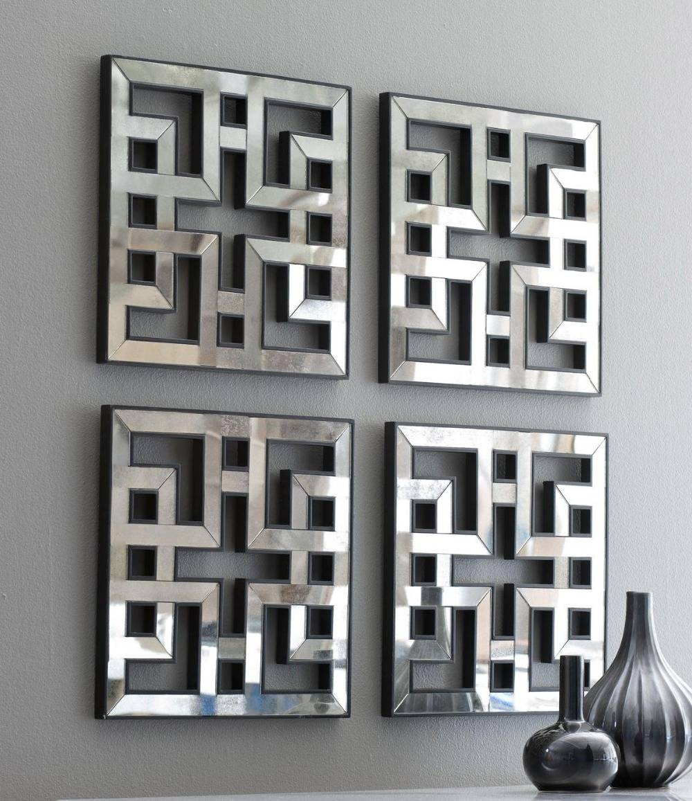 Wall Art Designs: Awesome Wall Art Mirror With Abstract Pattern Pertaining To Most Popular Wall Art Mirrors Contemporary (View 17 of 20)
