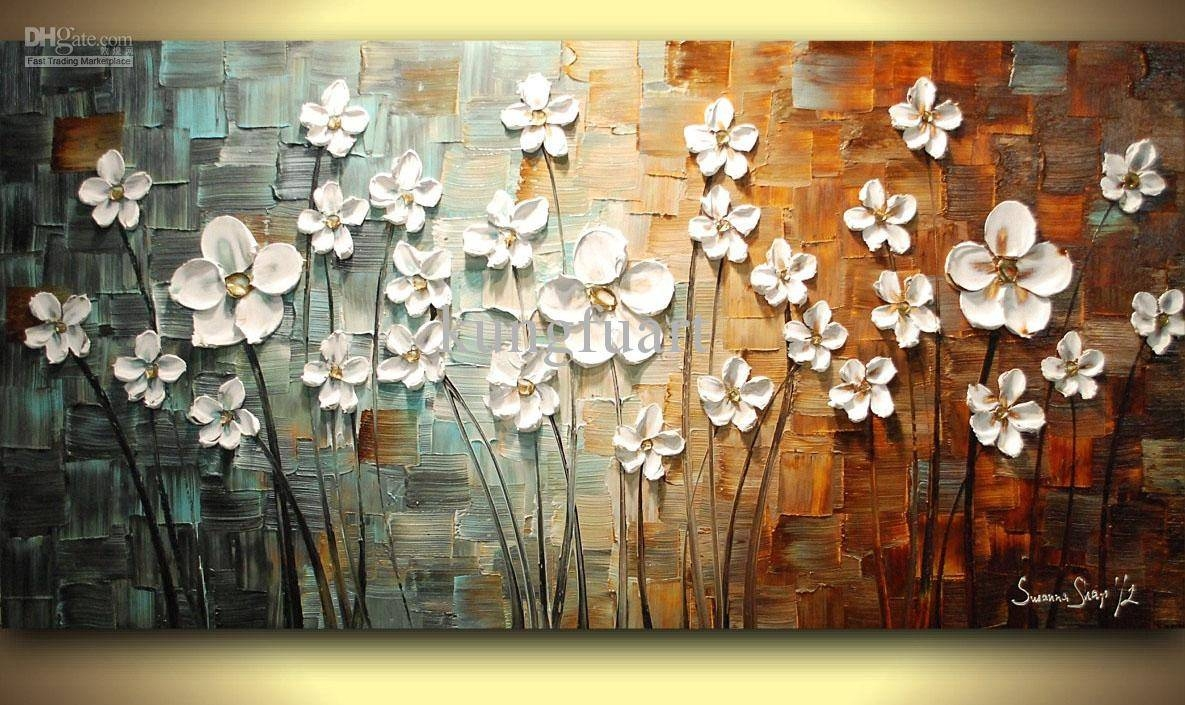 Wall Art Designs: Best Deals Oil Painting Wall Art On Canvas At In Latest Floral & Plant Wall Art (View 23 of 25)