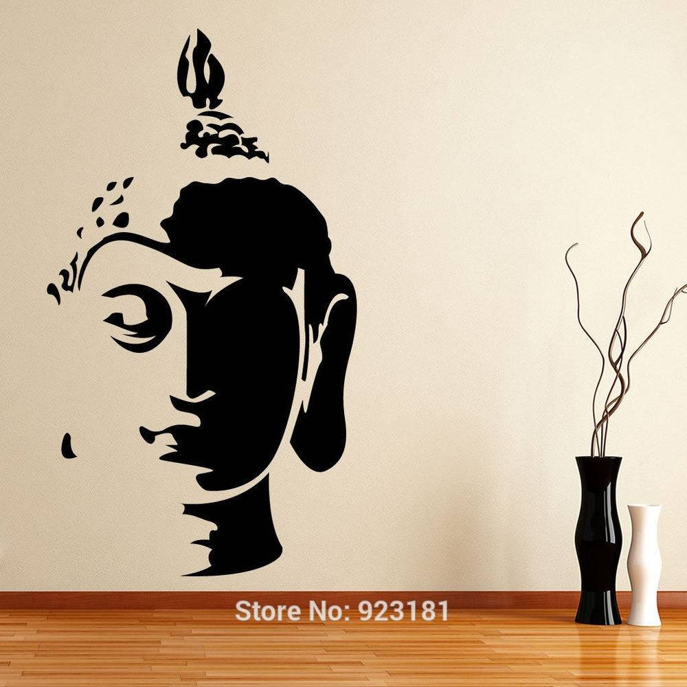 Wall Art Designs: Buddha Wall Art Wall Art Decor Face Silhouette With Regard To Most Recent Buddha Wooden Wall Art (View 20 of 20)