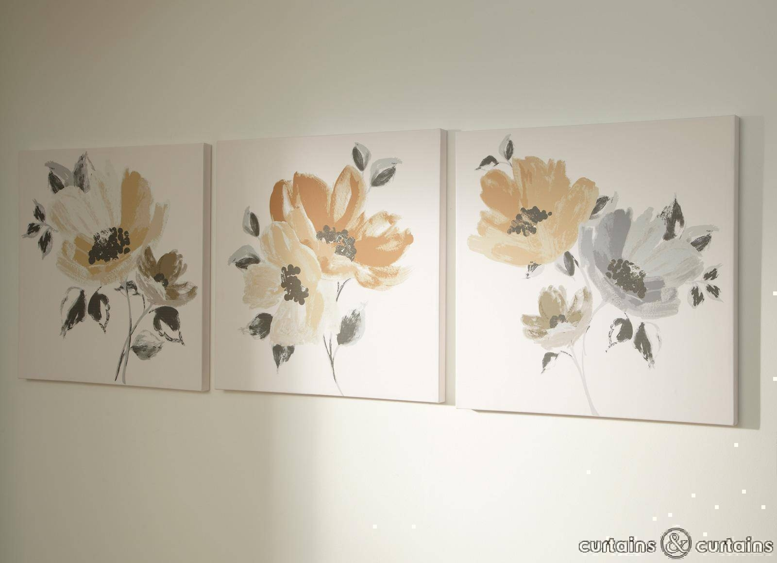 Wall Art Designs: Canvas Floral Wall Art Flowers Paintings Large Within Most Recently Released Large White Wall Art (View 2 of 20)