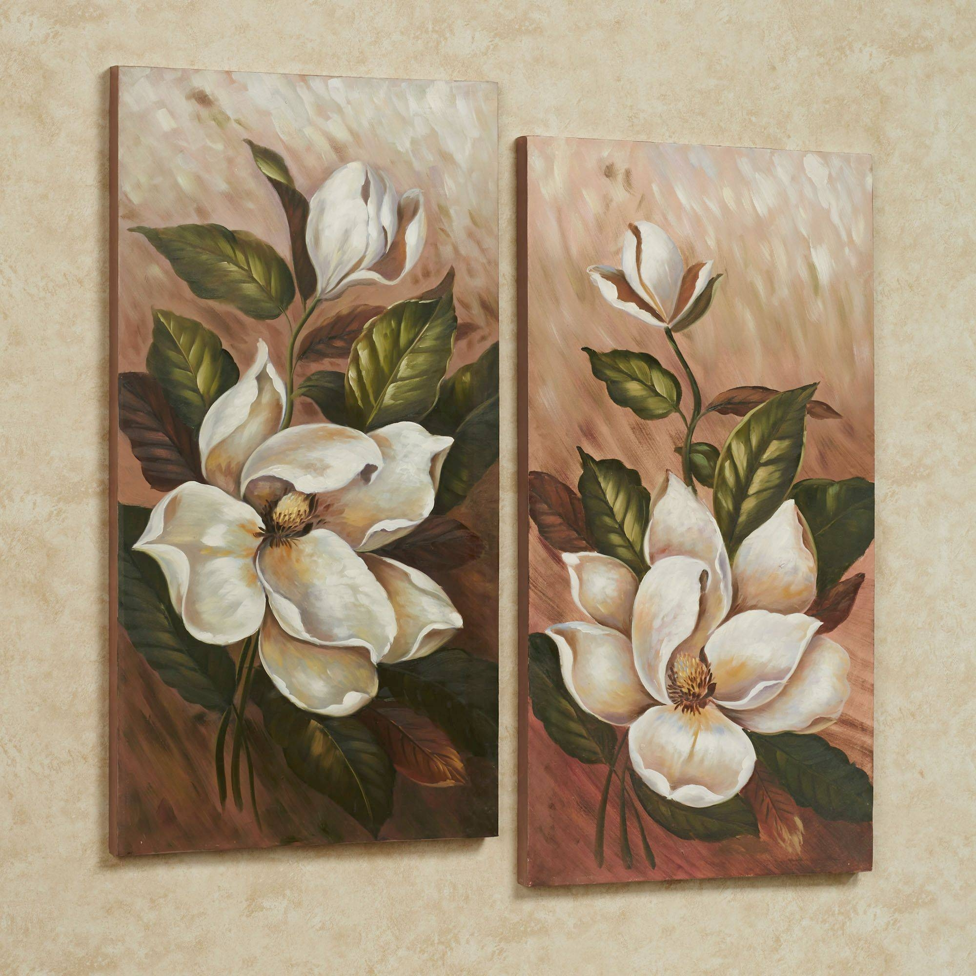 Wall Art Designs: Canvas Wall Art Annalynn Magnolia Wall Art With Best And Newest Floral Wall Art Canvas (View 20 of 20)