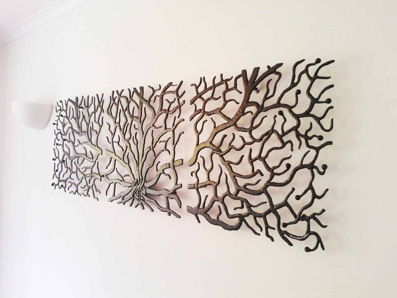 Wall Art Designs: Coral Wall Art Magnificent Metal Tree Wall Art Intended For Most Up To Date Red Flower Metal Wall Art (View 5 of 25)