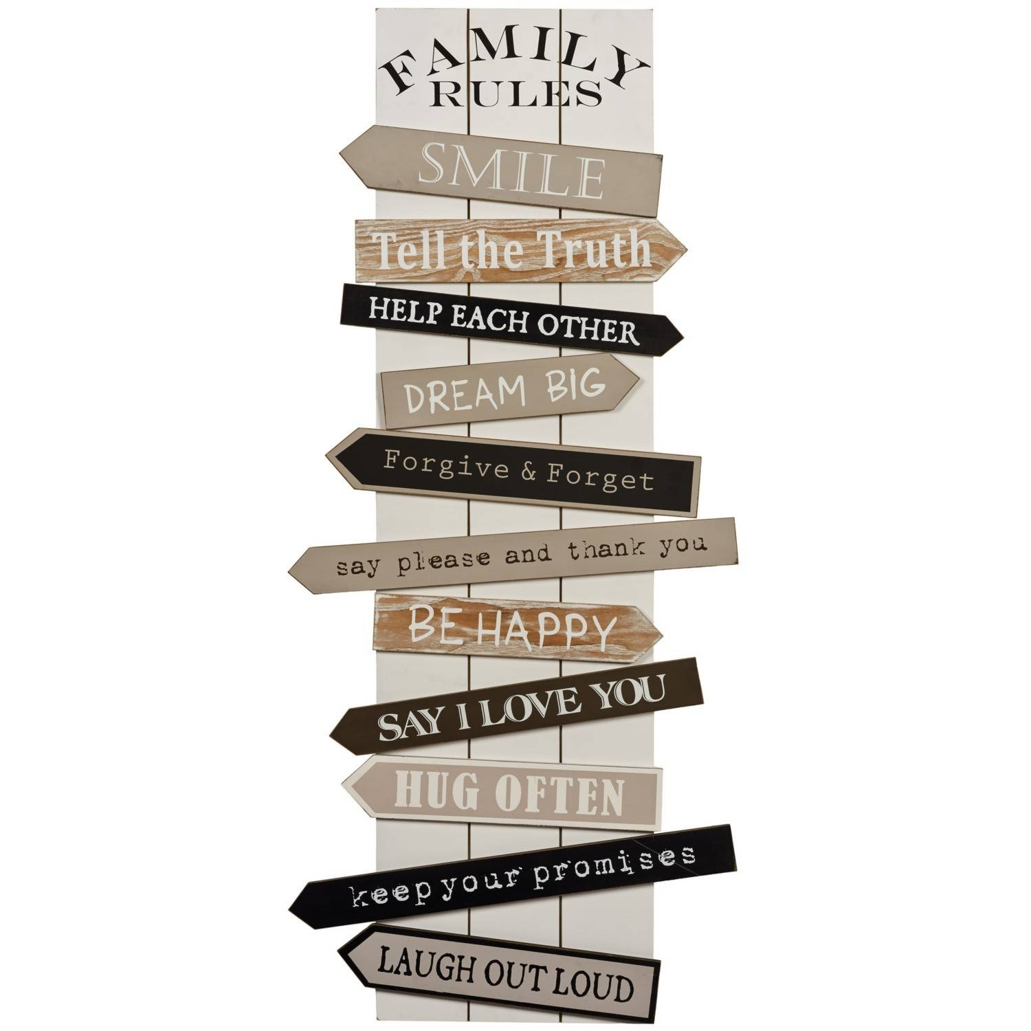 Wall Art Designs: Family Rules Wall Art Vintage Wall Art Wooden Intended For Current Wooden Word Wall Art (View 13 of 30)