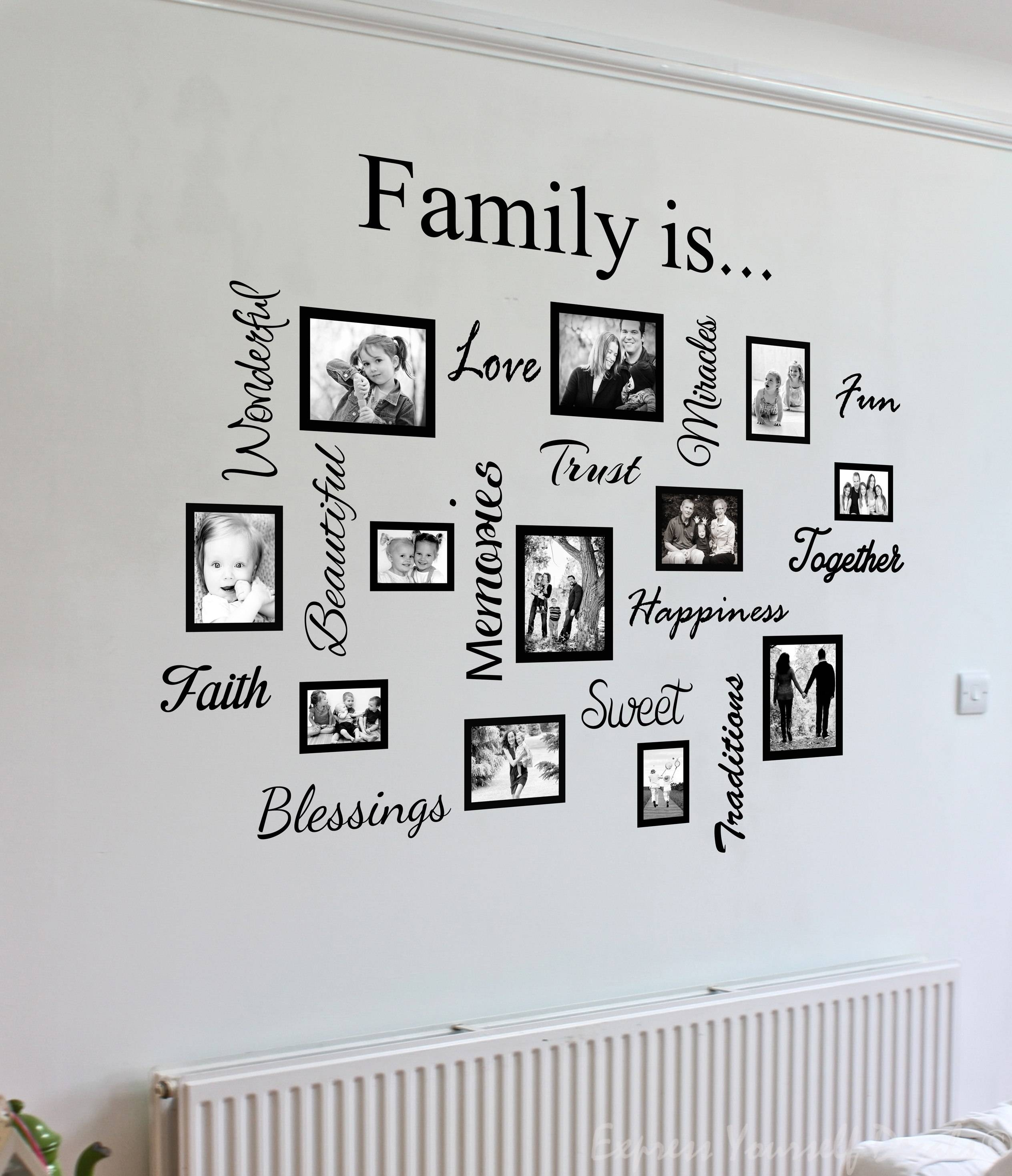 Wall Art Designs: Family Wall Art Photo Design Family Pattern Inside Newest Personalized Family Wall Art (View 6 of 20)