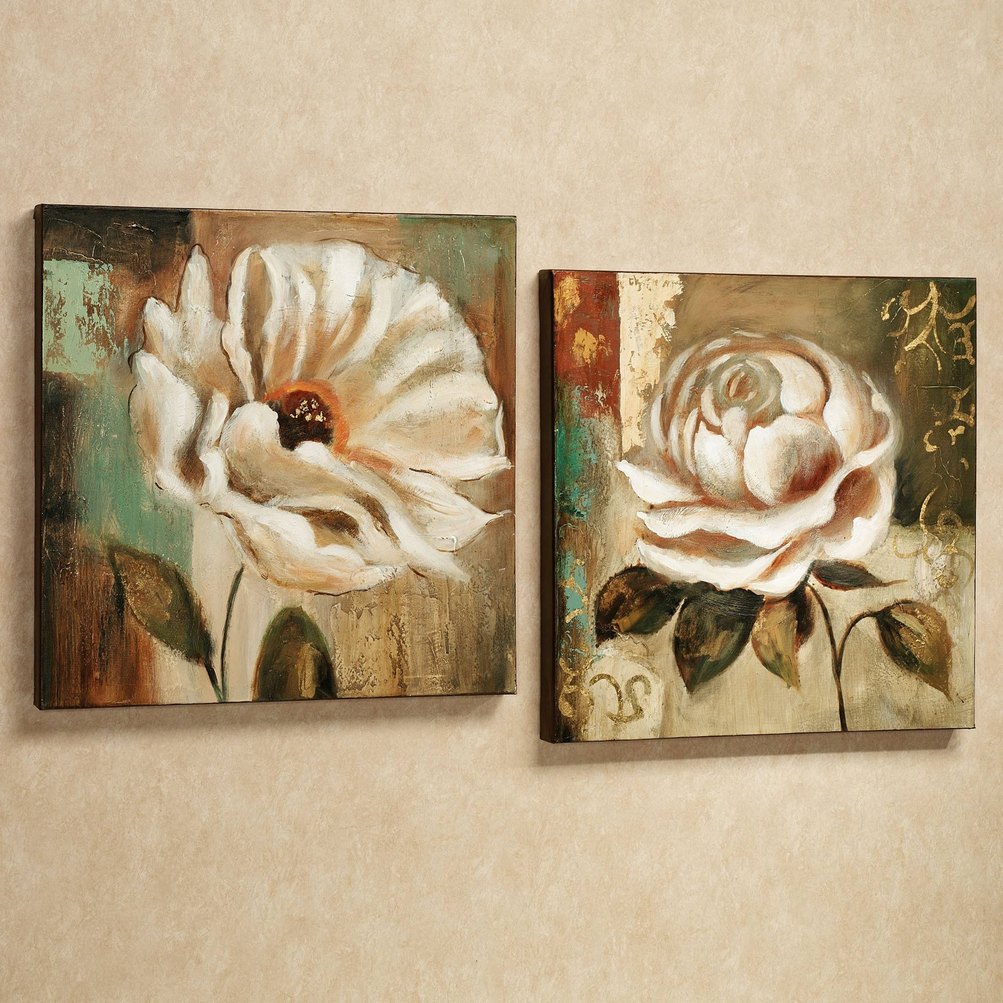 Wall Art Designs: Floral Canvas Wall Art Garden Canvas Floral Wall With Latest Multi Panel Canvas Wall Art (View 20 of 20)