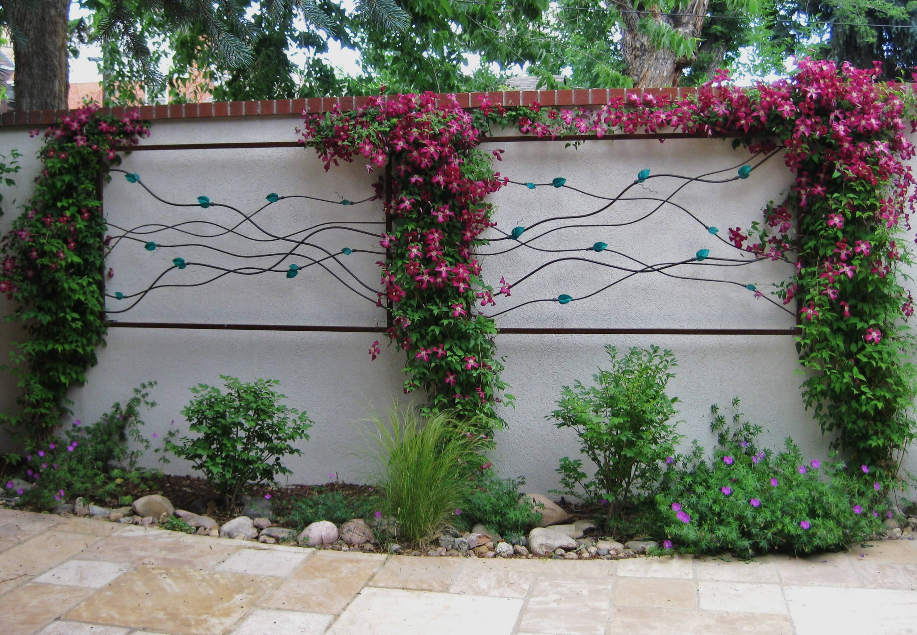 Wall Art Designs: Garden Wall Art Framed Art With Leaves Flower Within Most Popular Garden Wall Art (View 26 of 30)