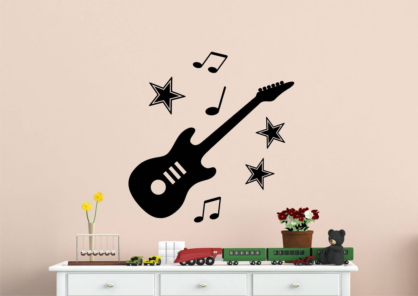 Wall Art Designs: Guitar Wall Art Guitar And Music Notes Intended For Most Recent Guitar Metal Wall Art (View 24 of 30)
