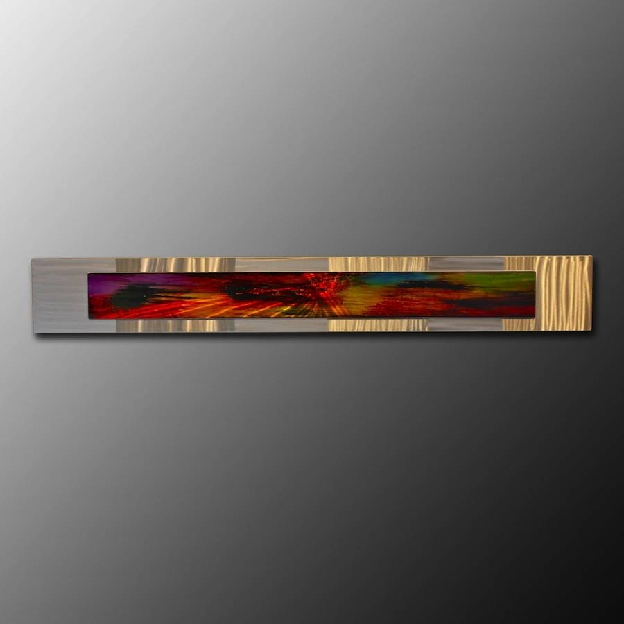 Wall Art Designs: Horizontal Wall Art Silver Frame Abstract Metal For Most Recent Horizontal Metal Wall Art (View 2 of 20)