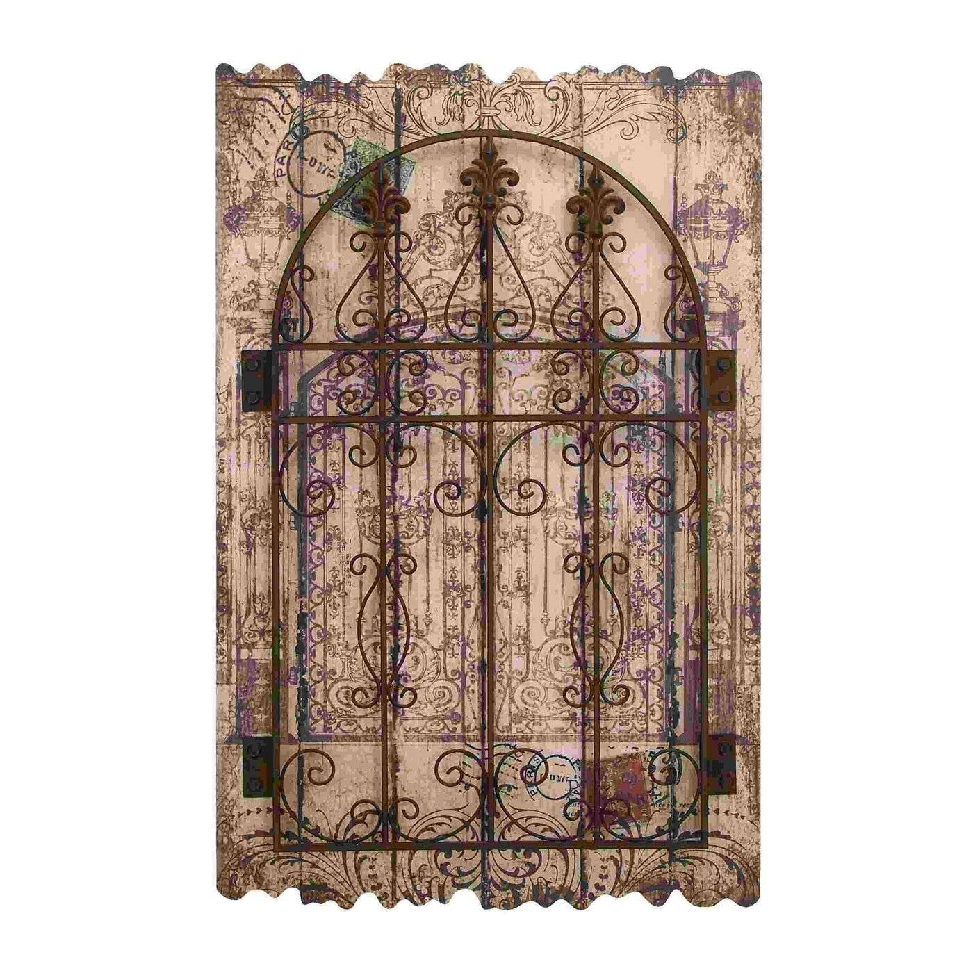 Wall Art Designs: Metal And Wood Wall Art Tuscan Carved Garden Pertaining To Most Up To Date Iron Gate Wall Art (View 3 of 25)
