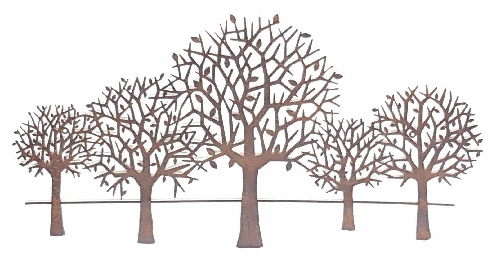 Wall Art Designs: Metal Wall Art Trees Tree Scenery Metal Hanging With Most Recent Tree Wall Art Sculpture (View 18 of 20)