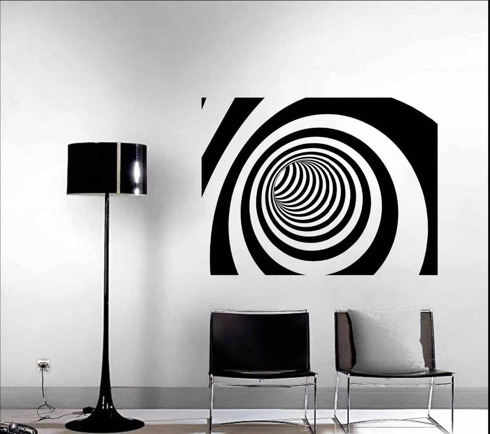 Wall Art Designs: Modern Wall Art Decor 3D Abstract Vinyl Wall Pertaining To Best And Newest Wall Art Deco Decals (View 13 of 20)