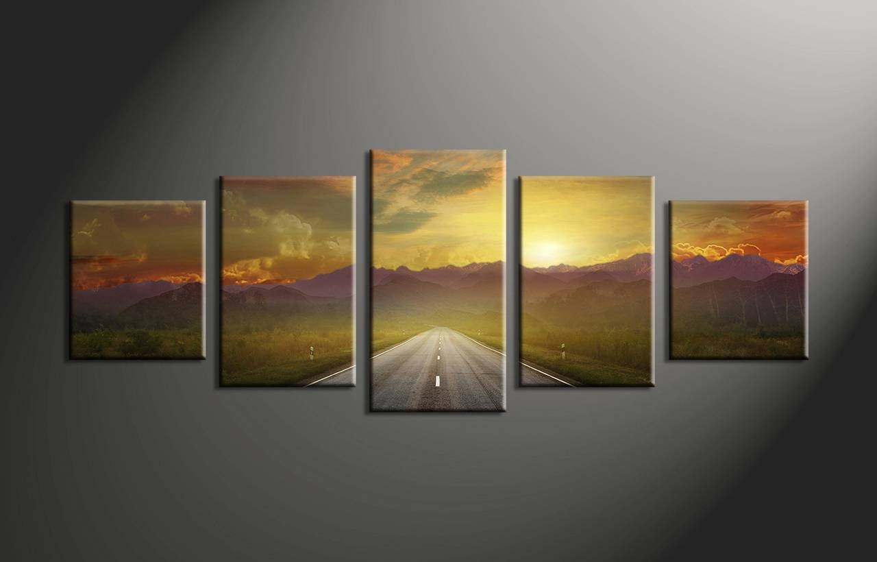 Wall Art Designs: Multi Panel Wall Art 5 Piece Canvas Art Prints Inside Most Recent Multiple Piece Wall Art (View 5 of 20)